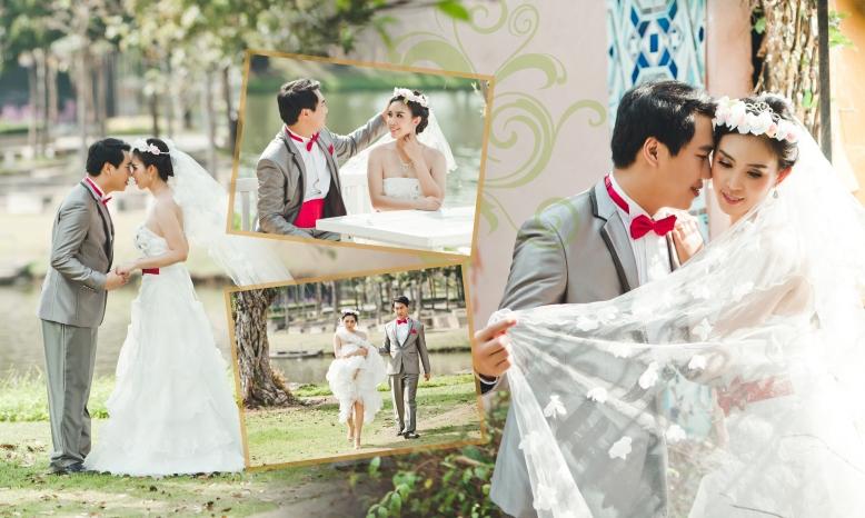 Pre-wedding Outdoor พืชสวนโลก,วัดต้นเกวั๋น