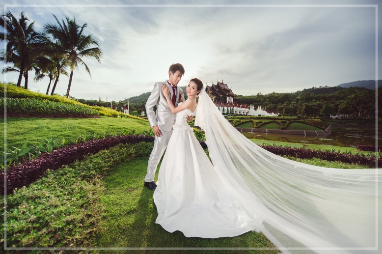 Pre-wedding Outdoor ,อ่างแก้ว มช. ,พืชสวนโลก ,